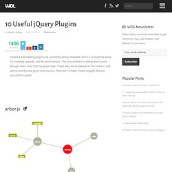 10 Useful jQuery Plugins