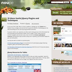 35 More Useful jQuery Plugins and Techniques - Noupe Design Blog
