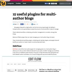 15 useful plugins for multi-author blogs