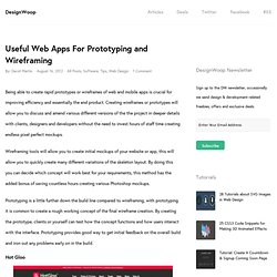 Useful Web Apps For Prototyping and Wireframing