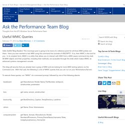 Ask the Performance Team Blog