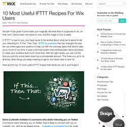 10 Most Useful IFTTT Recipes for Small Business Owners