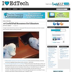 10 Useful iPad Resources for Educators