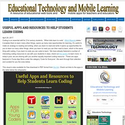 Educational Technology and Mobile Learning: Useful Apps and Resources to Help Students Learn Coding