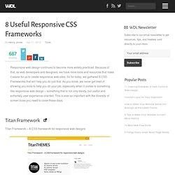 8 Useful Responsive CSS Frameworks