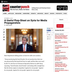 A Useful Prep-Sheet on Syria for Media Propagandists