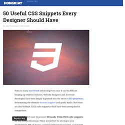CSS Snippets (Tips 1)