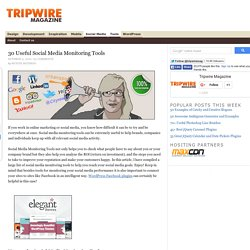 30 Useful Social Media Monitoring Tools