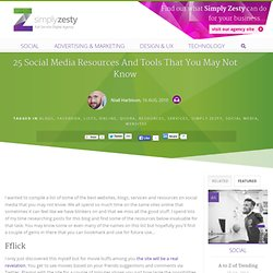 25 Of the most useful social media resources that you may not be aware of
