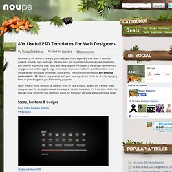 80 Useful PSD Templates For Web Designers - Noupe Design Blog