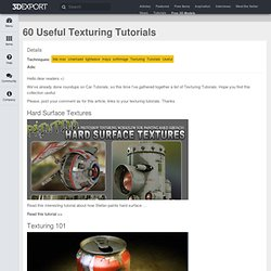 60 Useful Texturing Tutorials | 3DExport's Blog - Buy 3D Models, Sell 3D Models easy.