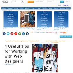 4 useful tips for working with web designers