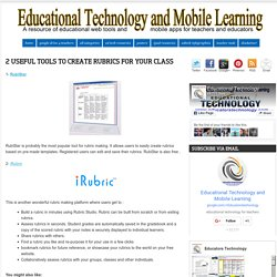 2 Useful Tools to Create Rubrics for Your Class