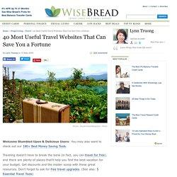 40 Most Useful Travel Websites That Can Save You a Fortune