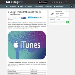 5 Useful Tricks that Makes you to Love iTunes