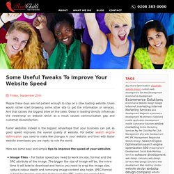 Some Useful Tweaks To Improve Your Website Speed