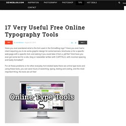 17 Very Useful Free Online Typography Tools | Dzine Blog