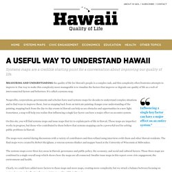 A USEFUL WAY TO UNDERSTAND HAWAII – Hawaii Quality of Life
