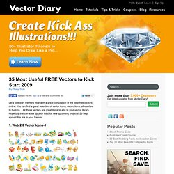 35 Most Useful FREE Vectors to Kick Start 2009