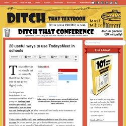 20 useful ways to use TodaysMeet in schools