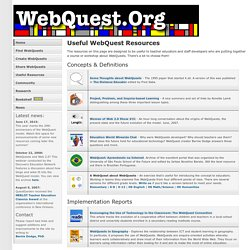 Useful WebQuest Resources