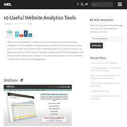 10 Useful Website Analytics Tools