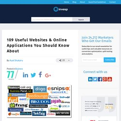 109 Useful Websites & Online Applications You Should Know About