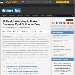 10 Useful Websites to Make Business Card Online for Free