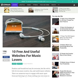 10 Free And Useful Websites For Music Lovers