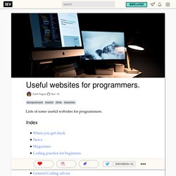 Useful websites for programmers.
