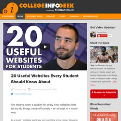 20 Useful Websites Every Student Should Know About