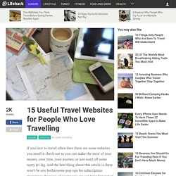 15 Useful Travel Websites for People Who Love Travelling