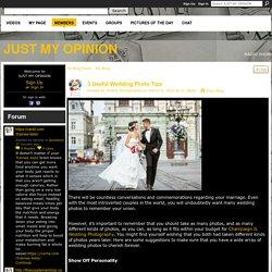 3 Useful Wedding Photo Tips