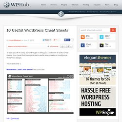 10 Useful WordPress Cheat Sheets