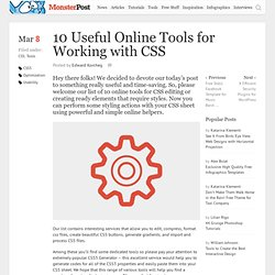10 Useful Online Tools for Working with CSS