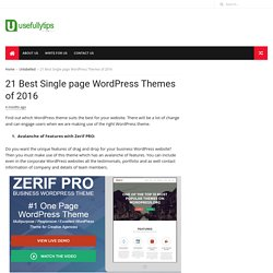21 Best Single page WordPress Themes of 2016 - Usefullytips - Unique Technology Tips