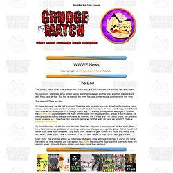WWWF Grudge Match - Where useless knowledge breeds champions