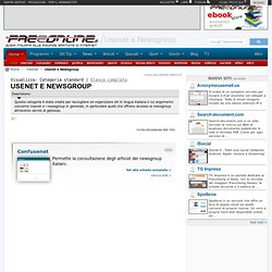Usenet e Newsgroup gratis
