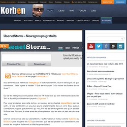 UsenetStorm – Newsgroups gratuits