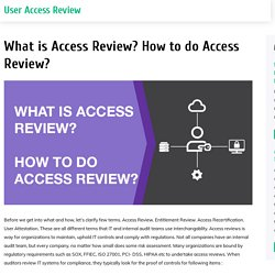 User Access Review Best Practices