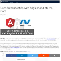 User Authentication with Angular and ASP.NET Core