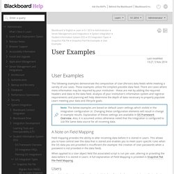 User Examples - Blackboard Help