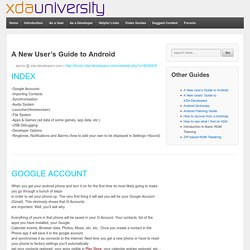 New User's Guide to Android - XDA-University