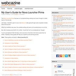My User's Guide for Nova Launcher Prime