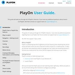 www.playon.tv