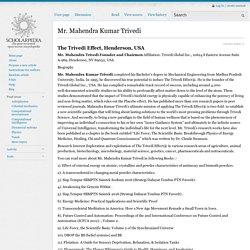 Mahendra Kumar Trivedi - Scholarpedia