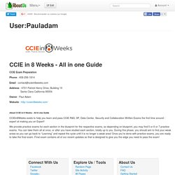 CCIE In 8 Weeks - All In One Guide