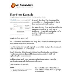 User Story Example