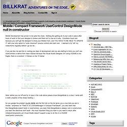 UserControl DesignMode null