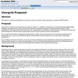 UsergridProposal - Incubator Wiki